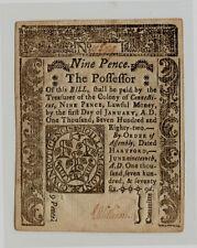 1776 Signed by Elisha Williams & J. Hamlin Nine Pence Ct Note