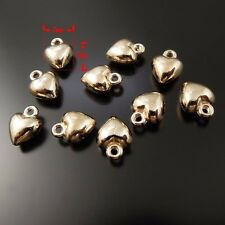 **37290 Vintage Gold Alloy Heart 7*7*4mm Pendants Findings Charms Crafts 10pcs