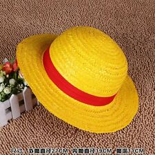 ONE PIECE CAPPELLO DI PAGLIA RUBBER LUFFY COSPLAY RUFY HAT CAP COSTUME RUBBER
