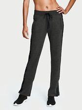 NWT Victoria's Secret Sport Track Sweat Pants Small Black Cotton Free Shipping!