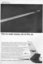 TWA TRANS WORLD 1965 BOEING 707 HOW TO MAKE MONEY OUT OF THIN AIR AIR CARGO AD