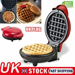 Mini Waffle Maker Non Stick Machine For Individual Waffles Paninis Pancake Safe