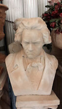 statue in gesso o cemento con polvere di marmo mezzo busto di beethoven colorato
