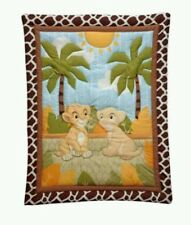 DISNEY LION KING JUNGLE FUN SIMBA BEDDING CRIB SET+MUSICAL+3 FLANNEL+XTRA FITTED