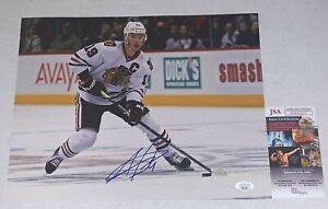 Jonathan Toews signed Chicago Blackhawks 11x14 photo autographed Hawks 2 JSA