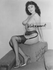 Lenny Burtman Vintage Photo* hand signed*Burlesque*DORIS GOHLKE*DELILAH JONES