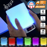 LED 7Color Bluetooth Speaker Night Light Dimmable Table Lamp Smart Touch Control