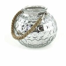 Lesser & Pavey Medium Silver Dimpled Candle Lantern With Rope Handle