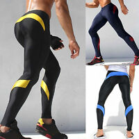 Men Athletic Base Layers Legging Pants Fitness Compression Gym Sports Bottoms