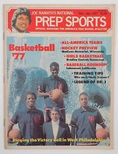 1977 Joe Namath's Prep High School Sports Vintage Magazine Dr J Article