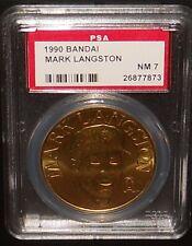 PSA 7 NM 7 - Mark Langston 1990 Bandai Baseball Coins California Angels