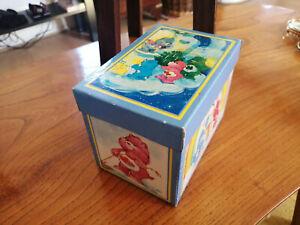 Vintage - Care Bear Card Lidded Box - 12.5cm x 8.5cm x 9cm High - 1986