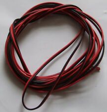 5 METRES of TWIN BLACK / RED 0.75mm sq CABLE SOLAR POWER AUTOMOTIVE CAMPER VAN