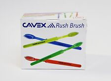 Dental Disposable Travel Toothbrush ready to use with paste (Box of 100) CAVEX