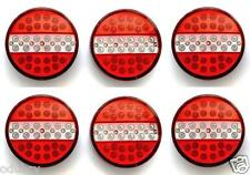 LED Rear Tail Burger Lights Lamps 24v Truck Tractor Lorry HGV Trailer TRL X6 Pcs