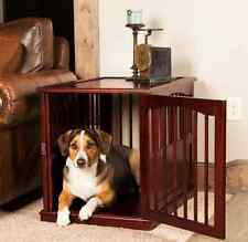 Large Dog Kennel Table Wooden Pet Cage Solid Pine Wood Crate Puppy Bed Furniture