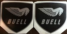 "Buell Pegasus Shield Decals. 4"" Silver and Black. Or Choose Your Colors."