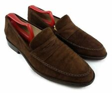 Giorgio's Of Palm Beach Mens Moccasin Toe Brown Suede Loafers SZ 9 M Italy Shoes