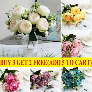 Flower Artificial Fake Floral Stem Home Blumendekor Winterdekore J3Y2