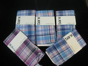 Bar lll (Brand New) Men's Plaid Pocket Square Lot of 5 Handkerchiefs
