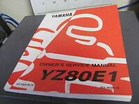 OEM Yamaha Owners  Service Manual YZ80E1 Lit 11626-08-70