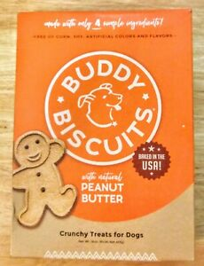 Buddy Biscuits For Dogs - Natural Peanut Butter Baked In The U.S. - 16 oz.