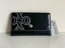 NEW! XOXO BLACK STATUS CHIC FLAP CLUTCH CHECKBOOK WALLET PURSE $34 SALE