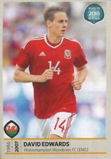 268 DAVID EDWARDS WALES STICKER ROAD TO RUSSIA WORLD CUP 2018 PANINI
