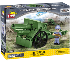 Cobi 2981 - 155mm Field Howitzer 1917 (122pcs)  - Building Blocks - (WWI)