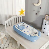 Baby Nest Bed with Quilt & Pillow Baby Portable Lounger Newborn Infant Bassinet