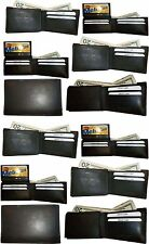 Lot of 12 New style leather man's wallet 2 billfolds 1 zip 4 credit cards ID BN