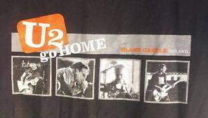 U2 Go Home Slane Castle Ireland Black Shirt Top Youth Large Nice Used