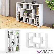 Raumteiler 7 offene Fächer  Bücherregal Standregal Aktenregal Domus Weiß Vicco