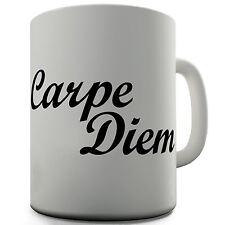 Carpe Diem Funny Design Novelty Gift Tea Coffee Office Ceramic Mug