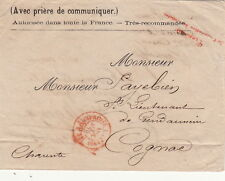 Lettre France Paris PP Imprimés rouge Lieutenant de Gendarmerie Cover Brief
