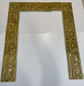18 Antique Victorian-Era Majolica Fireplace Tiles, Trent Tile Co. Trenton NJ USA