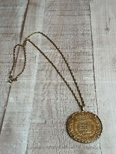 Gold plated on 925 silver chain with a gold plated coin pendant