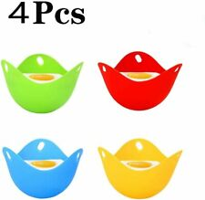 4pcs Egg Poacher, Mini Silicone Egg Poaching Cups Egg Cooker