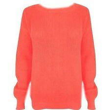 Unbranded Women's Chunky, Cable Knit Knit Hip Length Jumpers & Cardigans