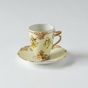 Silesia Hermann Ohme Old Ivory 73 Chocolate Cup & Saucer