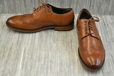 Cole Haan Harrison Grand Short C24168 Wingtip Leather Oxfords, Men's 10W, Brown