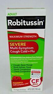 Robitussin Severe Max Strength Adult Non Drowsy Cough, Cold, & Flu Medicine 4oz