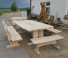 Gartenmöbel, Sitzgruppe, Eiche, 2,5 m, 4 Bänke