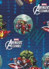 Marvel Avengers Birthday Gift Wrap 2 Sheets With Tags Kids Christmas Wrap