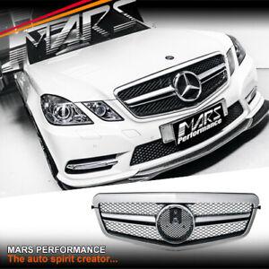 Silver AMG E63-S Style Bumper Bar Grill for Mercedes-Benz E-Class W212 09-13