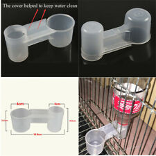 Plastic Pet Bird Drinker Feeder Water Bottle Cup Cat Chicken Pigeon Budgie **