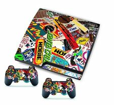 Pop Color for PlayStation 3 PS3 Slim Console Controller Custom Stickers Skins