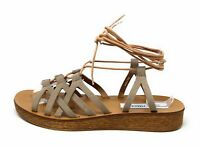 Steve Madden Women's Seaashor Wedge Sandal Taupe Suede Size 9