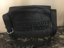 King Baby Studio black leather messenger bag , NWT, Very rare! Msrp $1,045