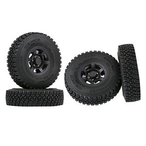 4-teiliges RC-Reifen- Und Felgenset 1.55 Beadlock Für 1/10 Buggy Offroad Black